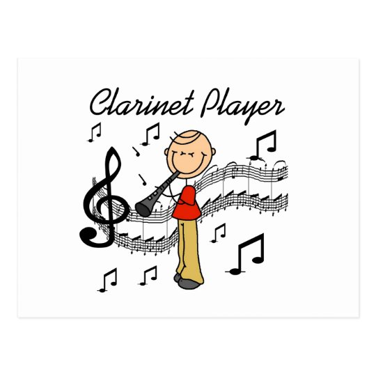 Stick Figure Male Clarinet Player Tshirts and Gift
