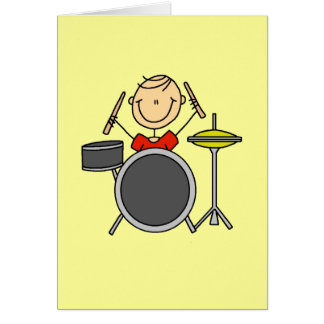 Stick Figure Male Drummer T-shirts and Gifts Card