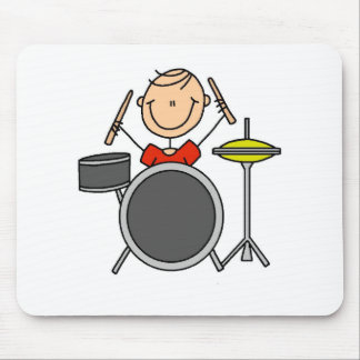 Stick Figure Male Drummer T-shirts and Gifts Mouse Pads