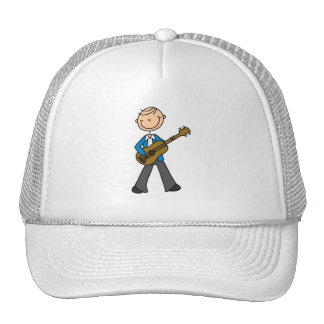 Stick Figure Male Guitar Player T-shirts and Gifts Hats