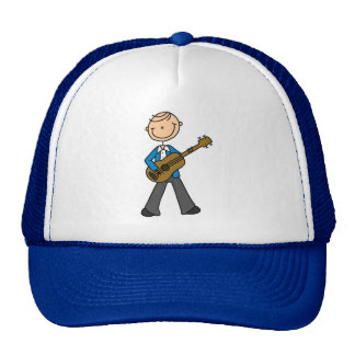 Stick Figure Male Guitar Player T-shirts and Gifts Trucker Hats