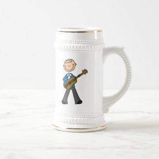 Stick Figure Male Guitar Player T-shirts and Gifts Mugs