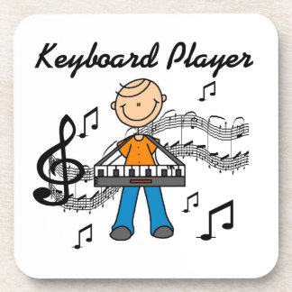 Stick Figure Male Keyboard Player Gifts Coaster
