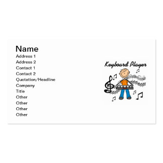 Stick Figure Male Keyboard Player Gifts Pack Of Standard Business Cards