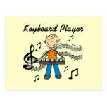 Stick Figure Male Keyboard Player Gifts Postcard
