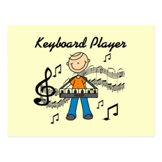 Stick Figure Male Keyboard Player Gifts Postcard