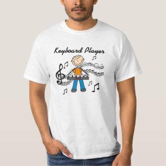 Stick Figure Male Keyboard Player Gifts T-Shirt