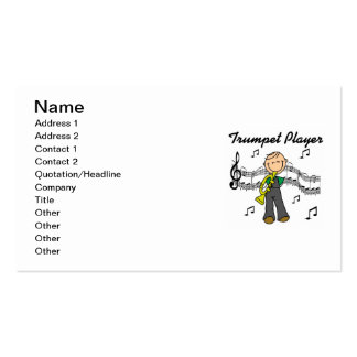 Stick Figure Male Trumpet Player T-shirts and GIft Business Card