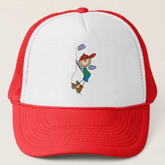 Stick Figure Mountain Climbing Hat