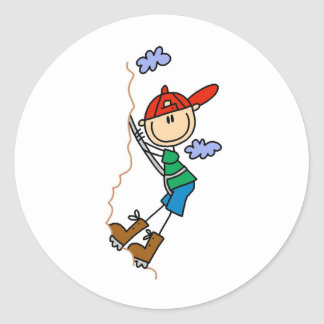Stick Figure Mountain Climbing Stickers