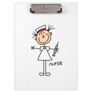 Stick Figure Nurse Clipboard