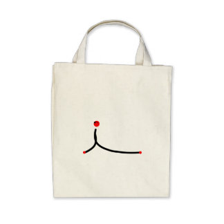 Stick figure of cobra yoga pose. canvas bag
