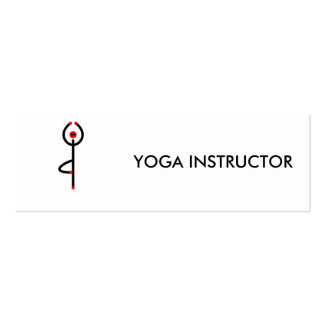 Stick figure of tree yoga pose. pack of skinny business cards