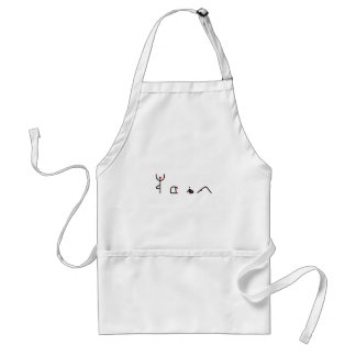 Stick figure of yoga poses spelling YOGA. Standard Apron