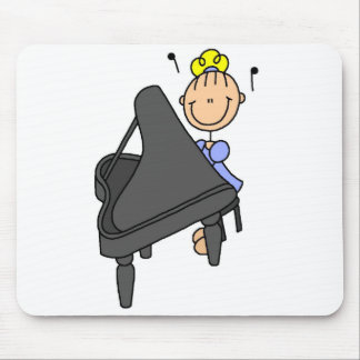 Stick Figure Piano Mousepad