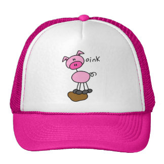 Stick Figure Pig T-shirts and Gifts Cap