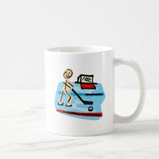 stick figure player basic white mug