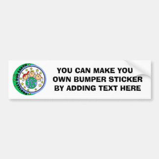Stick Figure Protect Our Earth T-shirts and Gifts Car Bumper Sticker