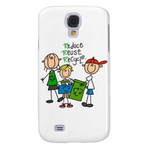 Stick Figure Reduce Reuse Recycle  Samsung Galaxy S4 Cases