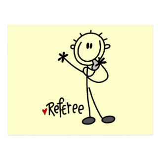 Stick Figure Referee Tshirts and Gifts Postcard
