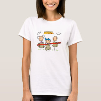 Stick Figure Sack Race T-Shirt