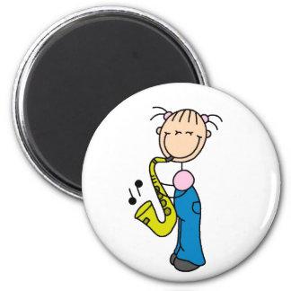 Stick Figure Saxophone Magnet