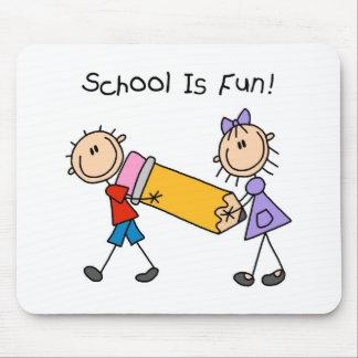 Stick Figure School Is Fun Mousepad