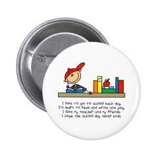 Stick Figure School Poem Button