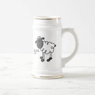Stick Figure Sheep T-shirts and Gifts Beer Stein