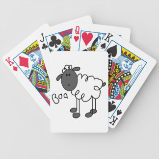Stick Figure Sheep T-shirts and Gifts Poker Deck