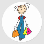 Stick Figure Shopping Sticker