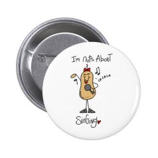 Stick Figure Singing Nut Button
