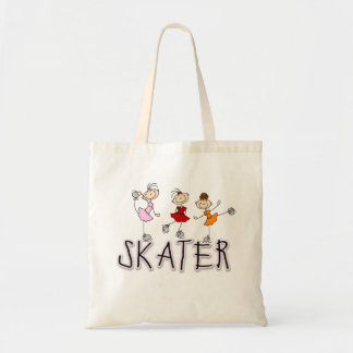 Stick Figure Skater Tshirts and Gifts Canvas Bag
