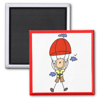 Stick Figure Sky Diver Tshirts and Gifts Magnet
