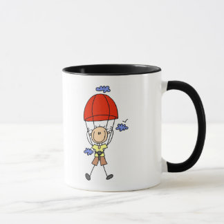 Stick Figure Sky Diver Tshirts and Gifts Mug
