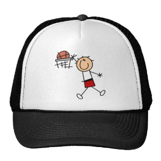 Stick Figure Slam Dunk T-shirts and Gifts Cap