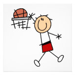 Stick Figure Slam Dunk T-shirts and Gifts Custom Invitations