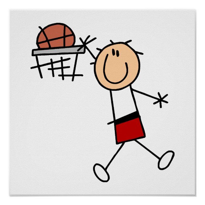 Stick Figure Slam Dunk T-shirts and Gifts Poster