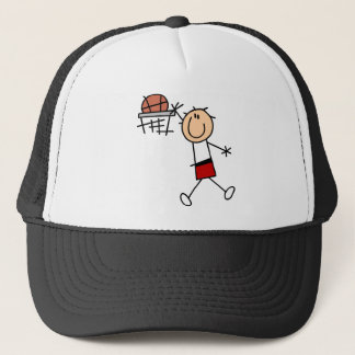 Stick Figure Slam Dunk T-shirts and Gifts Trucker Hat
