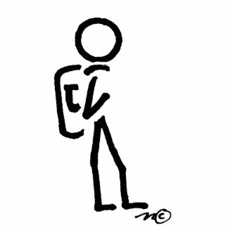 stick figure standing photo sculpture