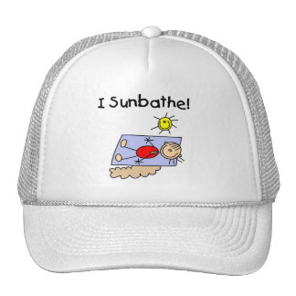 Stick Figure Sunbather Tshirts and Gifts Cap