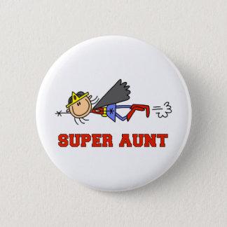 Stick Figure Super Aunt Button