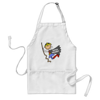 Stick Figure Super Granny Apron