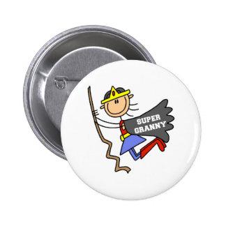 Stick Figure Super Granny Button