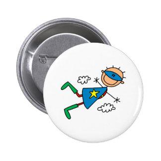 Stick Figure Super Hero Button