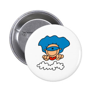 Stick Figure Super Hero Button
