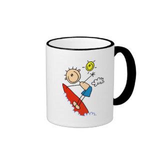 Stick Figure Surfer Boy Tshirts and Gifts Mugs