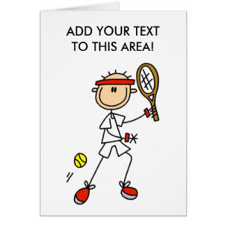 Stick Figure Tennis Player Card