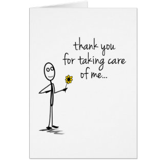 Stick Figure Thank You Nurse Notecard