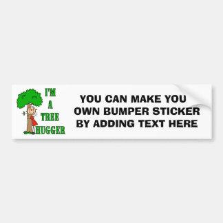 Stick Figure Tree Hugger T-shirts and Gifts Car Bumper Sticker